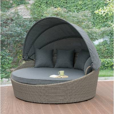 Ove Decors Brisbane Patio Daybed With Cushions & Reviews Regarding Trendy Harlow Patio Daybeds With Cushions (View 12 of 20)