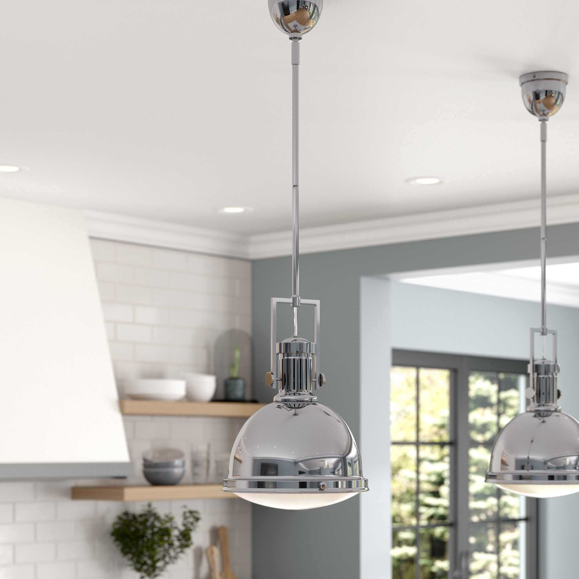 Oversized Dome Pendant Light (View 16 of 20)