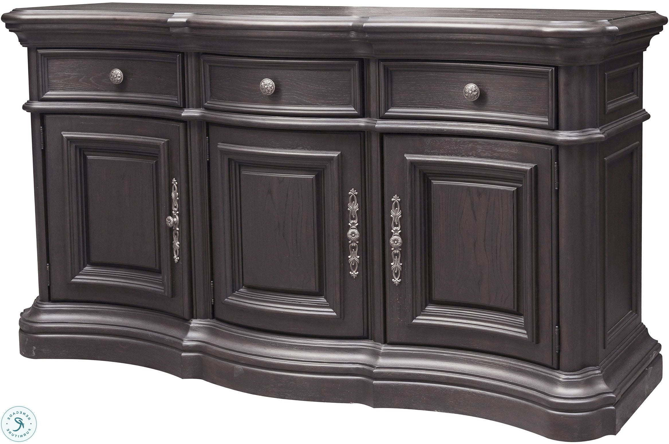 Palisade Distressed Dark Brown Sideboard From Pulaski Pertaining To Most Up To Date Palisade Sideboards (View 4 of 20)