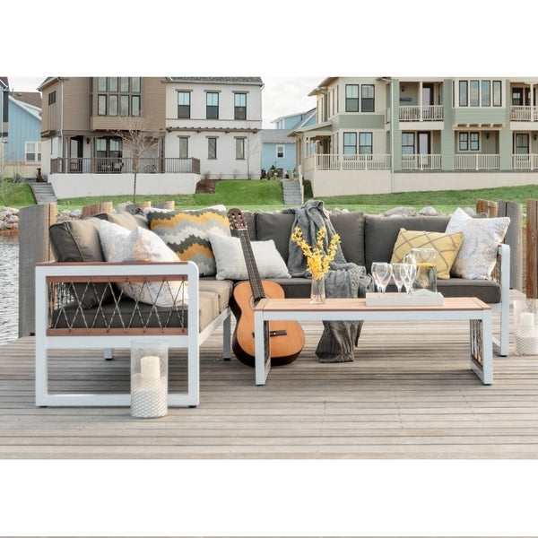 Paloma Sectionals With Cushions Within Newest Shop 3 Piece Outdoor Sectional And Coffee Table – Free (View 11 of 20)