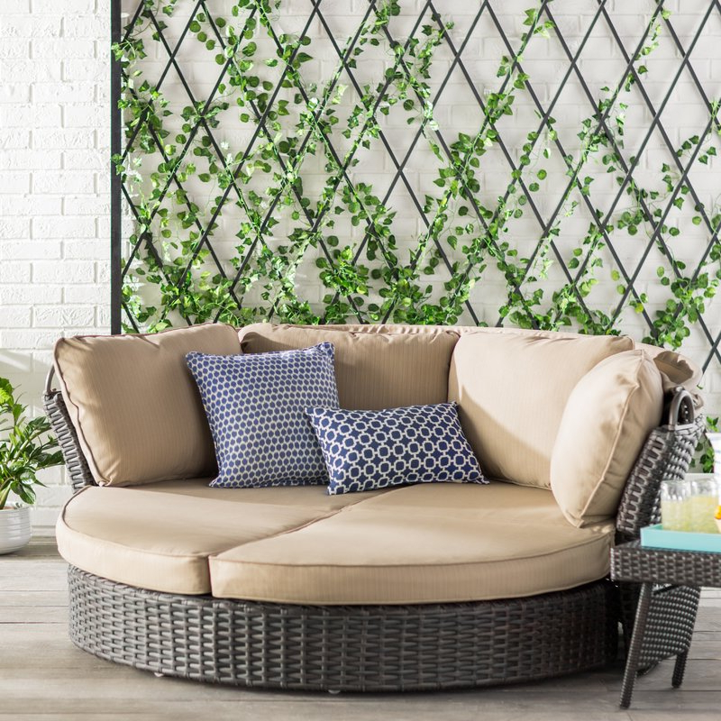 Patio Daybeds With Cushions For Newest Tiana Patio Daybed With Cushions (View 8 of 20)