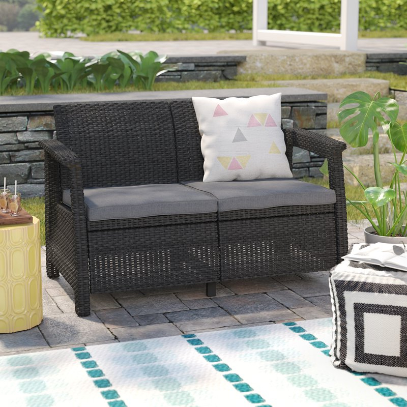 Patio Loveseat – Home Decor Ideas – Editorial Ink Throughout Well Known Calvin Patio Loveseats With Cushions (View 12 of 20)