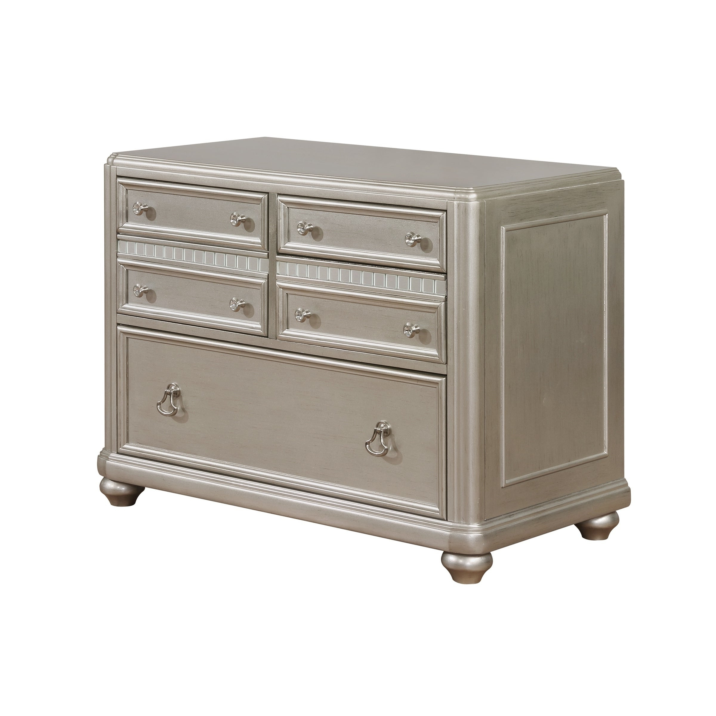 Payton Serving Sideboards Inside Most Up To Date Coaster Ritzville Metallic Champagne Wood Finish 4 Drawer File Cabinet (View 17 of 20)