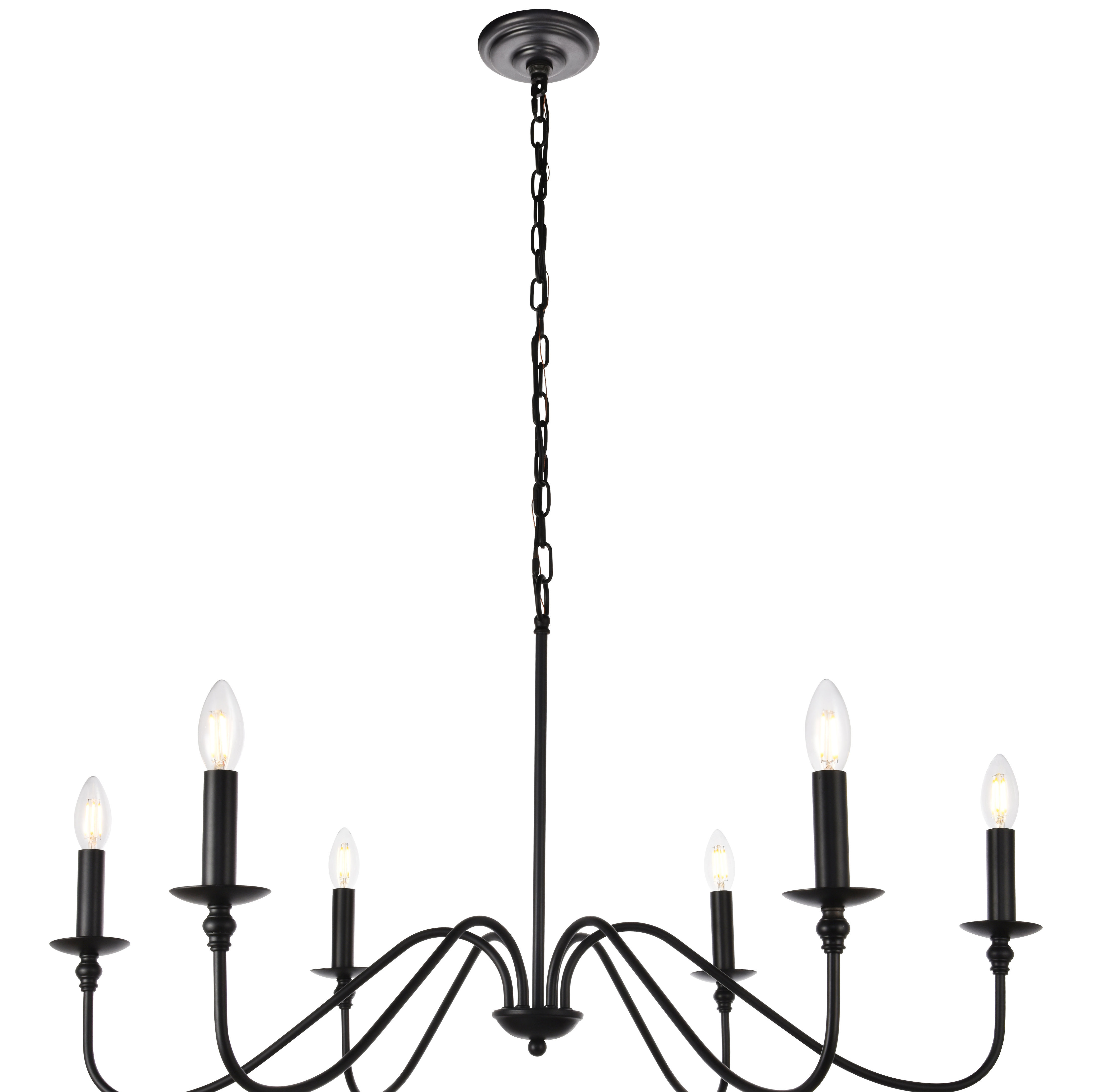 Perseus 6 Light Candle Style Chandeliers Inside 2020 Hamza 6 Light Candle Style Chandelier (Gallery 9 of 20)