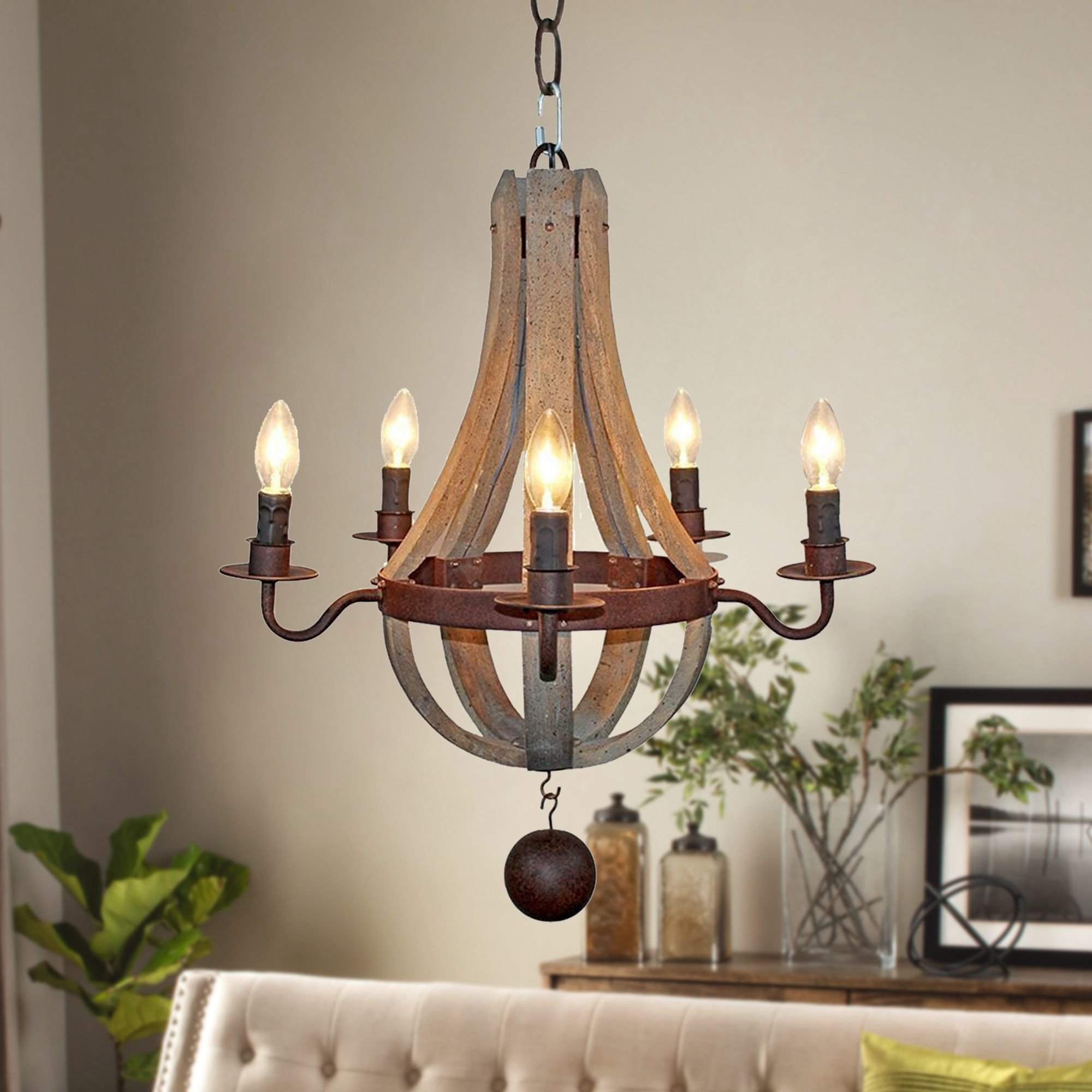 Phifer 6 Light Empire Chandeliers Intended For Most Popular Ophelia & Co. Amata Flask Shape 5 Light Empire Chandelier (Gallery 14 of 20)