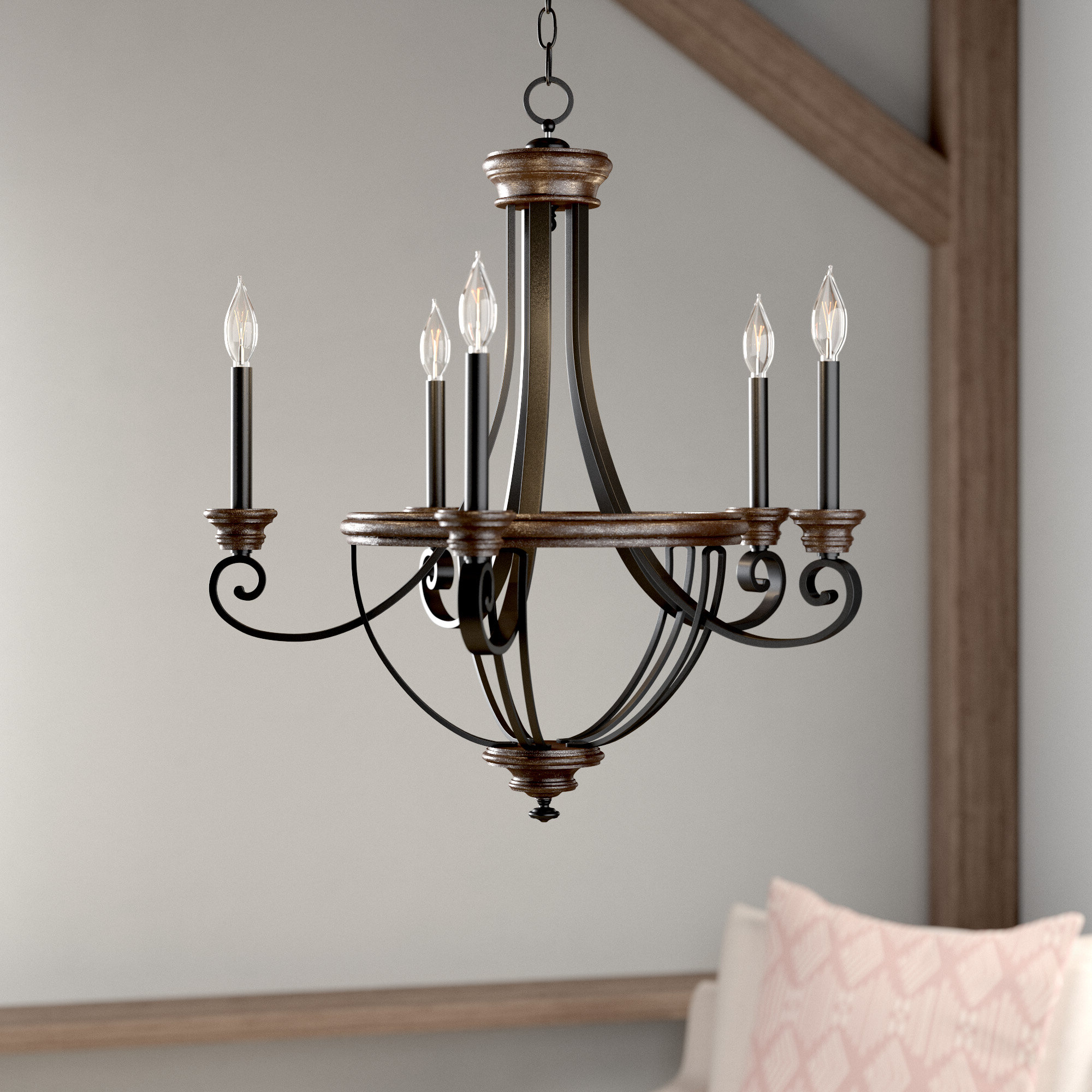 Phifer 6 Light Empire Chandeliers With Regard To Most Popular Nanteuil 5 Light Empire Chandelier (Gallery 12 of 20)