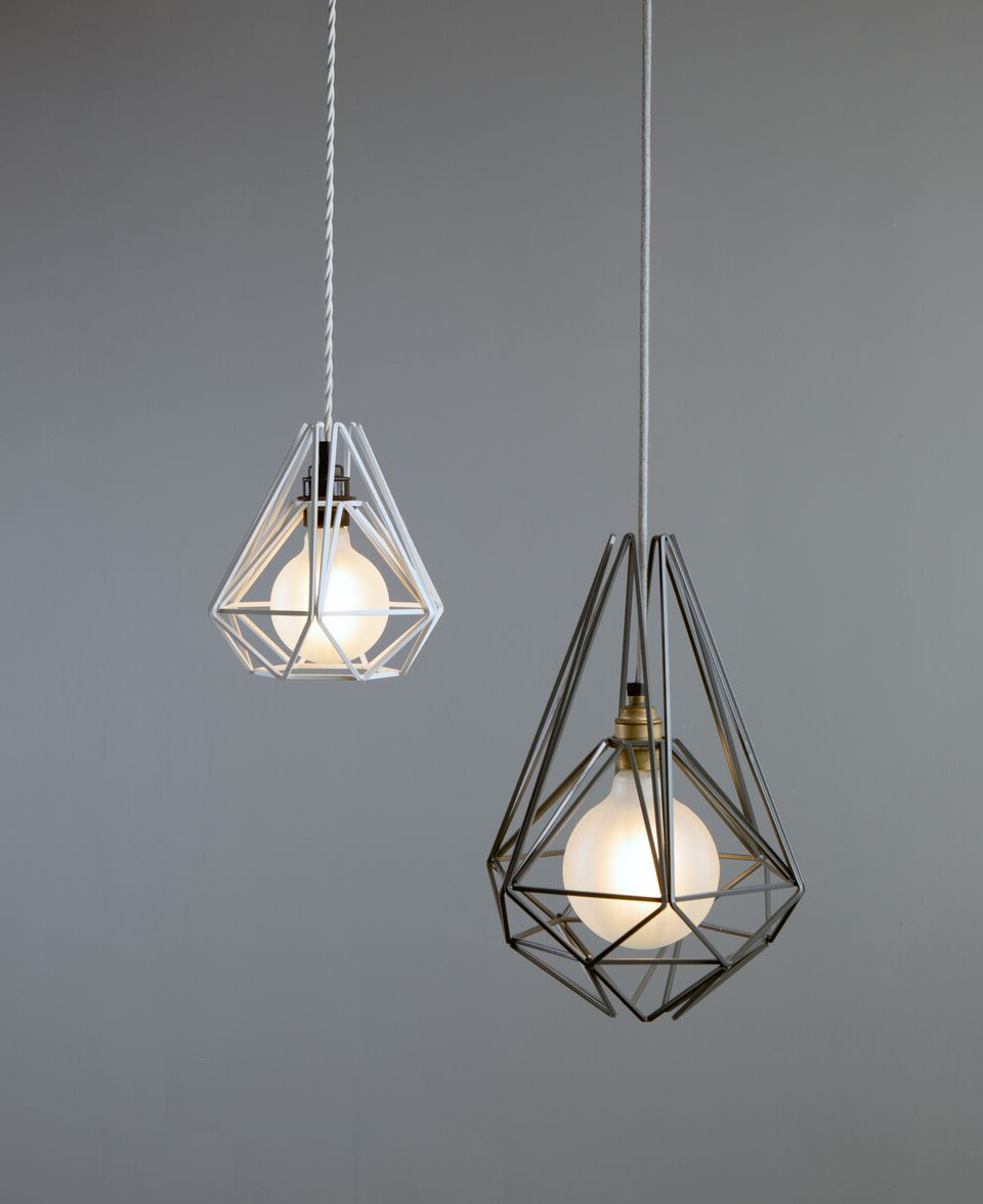 Pink Chai Cage Pendant Light – Large & Small Geometric Light Within Fashionable Kraker 1 Light Single Cylinder Pendants (View 15 of 20)