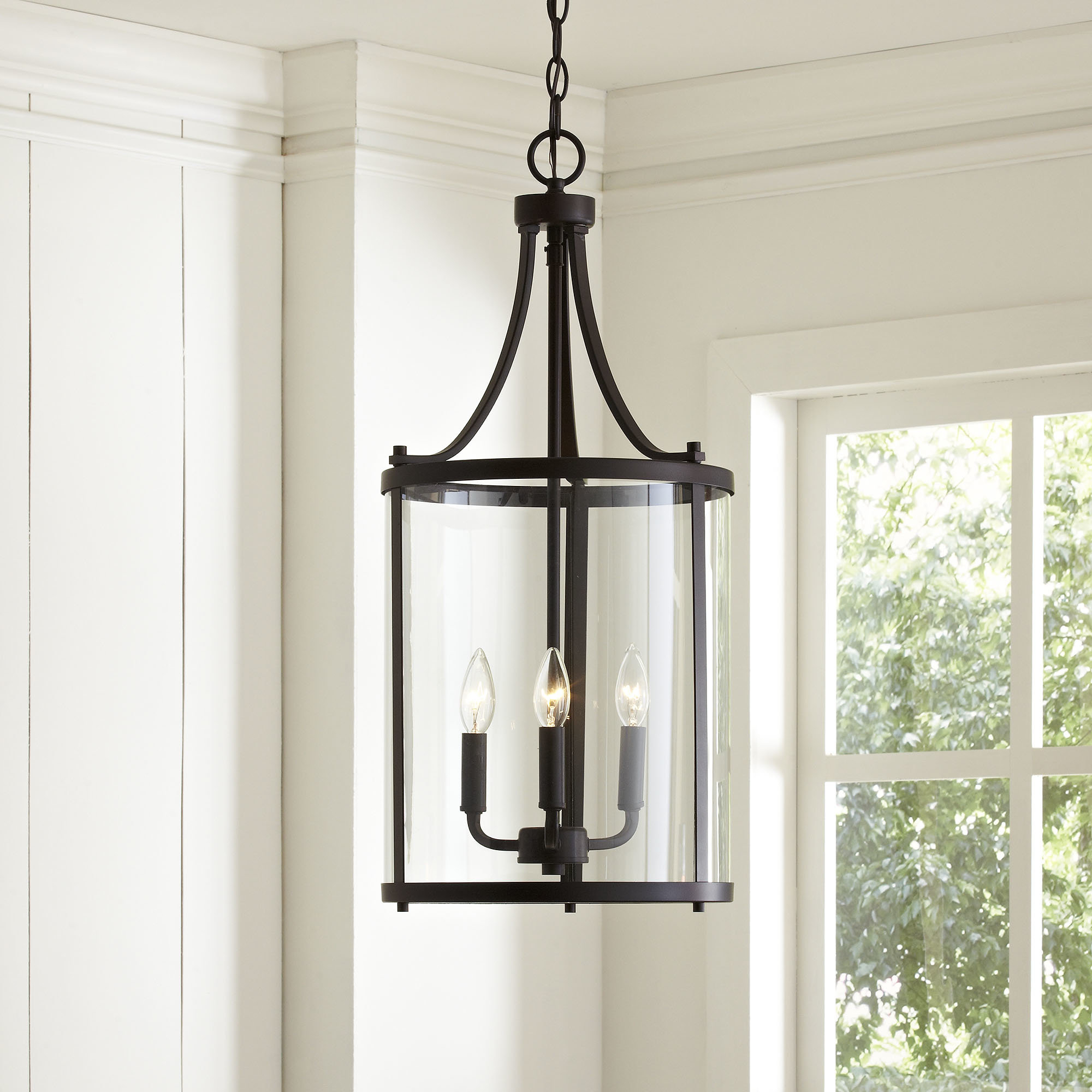 Popular 3 Light Lantern Cylinder Pendant For Gabriella 3 Light Lantern Chandeliers (View 16 of 20)