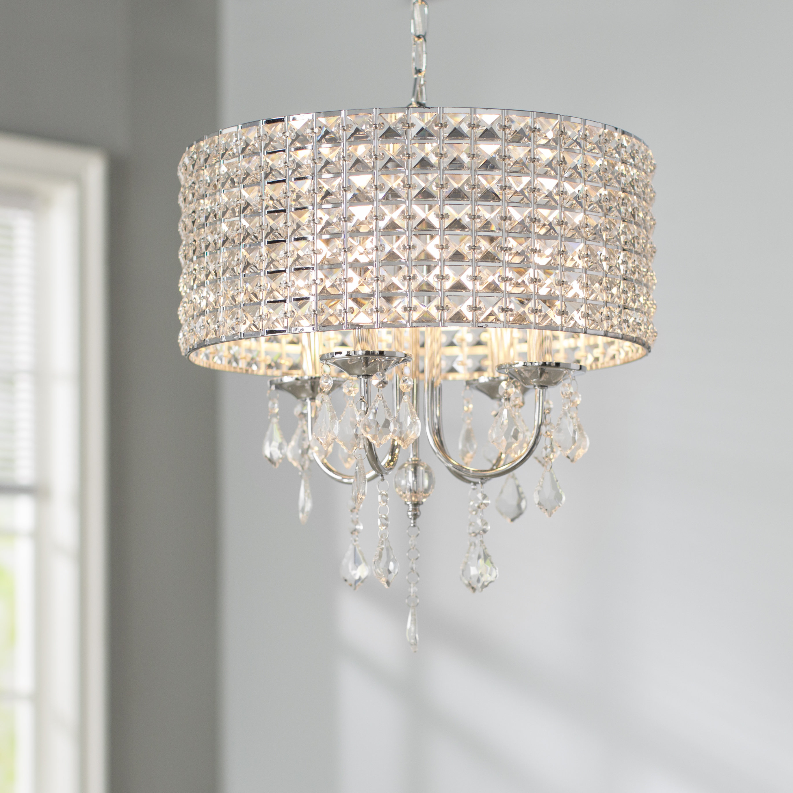Popular Albano 4 Light Crystal Chandeliers In Willa Arlo Interiors Albano 4 Light Crystal Chandelier (Gallery 5 of 20)