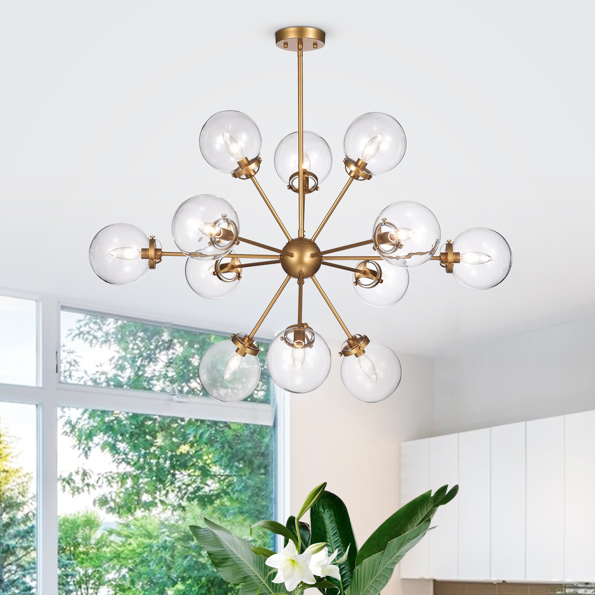 Popular Asher 12 Light Sputnik Chandeliers Intended For Natividad 12 Light Sputnik Chandelier (View 19 of 20)