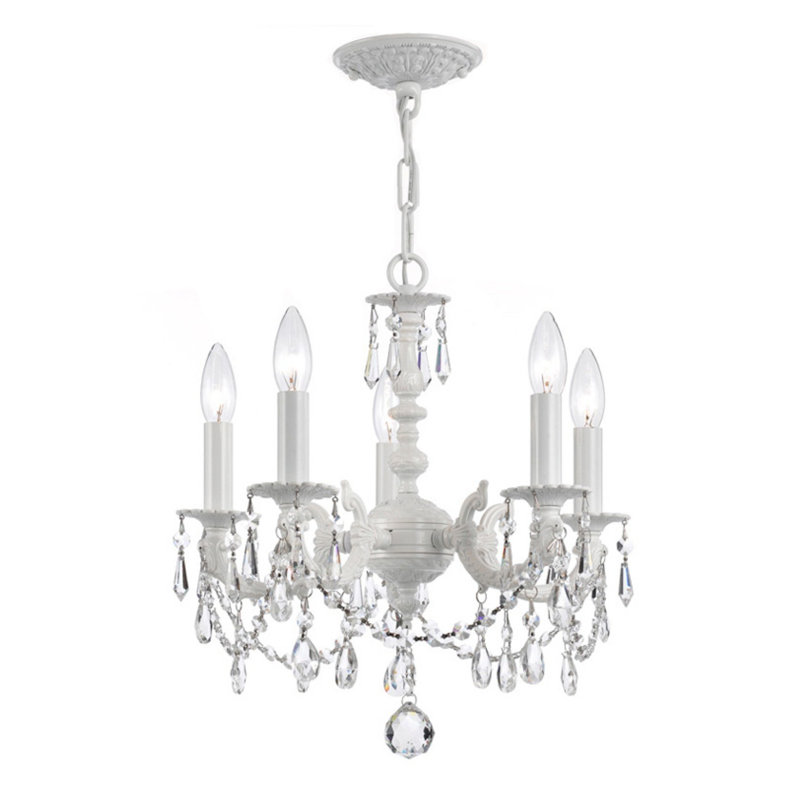 Popular Blanchette 5 Light Candle Style Chandeliers Pertaining To Crystorama Paris Market 5515 Ww Cl Mwp 5 Light Chandelier (View 16 of 20)