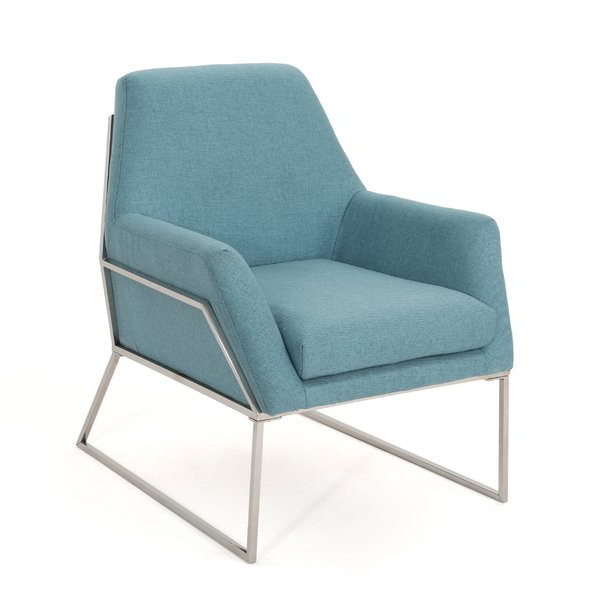 Popular Calila Teak Loveseats With Cushion Within Modern & Contemporary Stainless Steel Frame Chair (View 17 of 20)