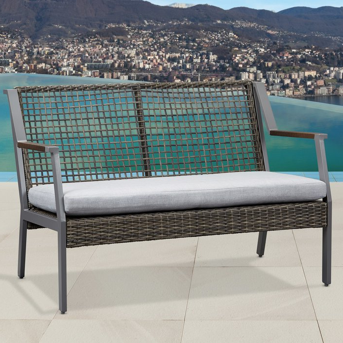 Featured Photo of Calvin Patio Loveseats With Cushions