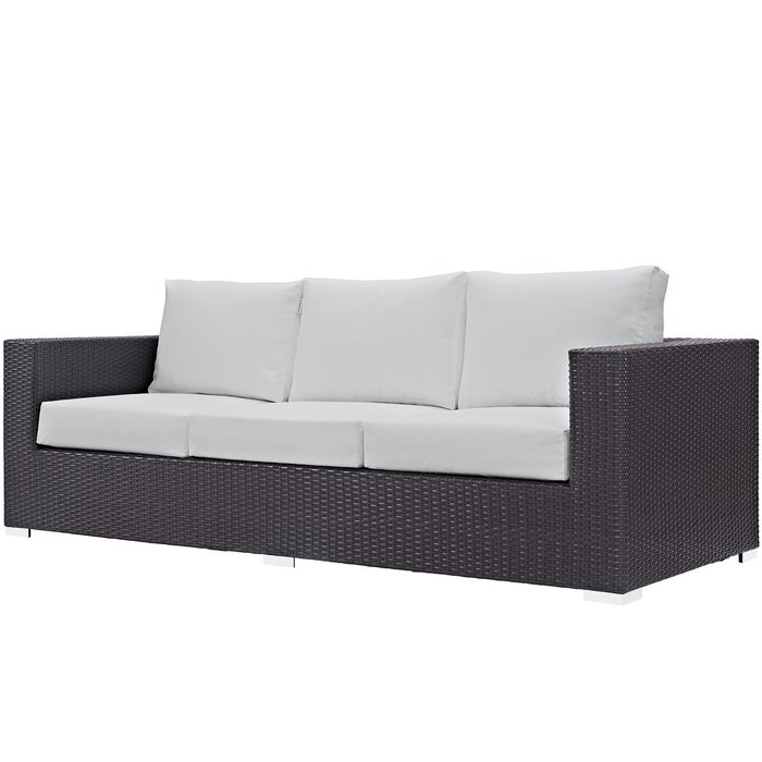 Popular Clifford Patio Sofas With Cushions Regarding Brentwood Patio Sofa With Cushions (View 16 of 20)