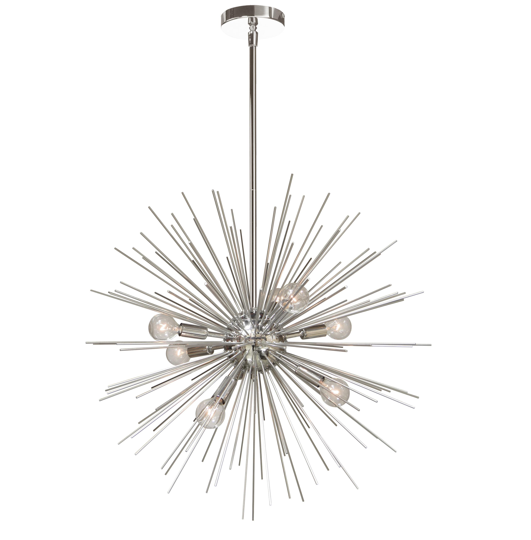 Popular Corona 12 Light Sputnik Chandeliers Within Celvin Charboneau 8 Light Sputnik Chandelier (Gallery 18 of 20)