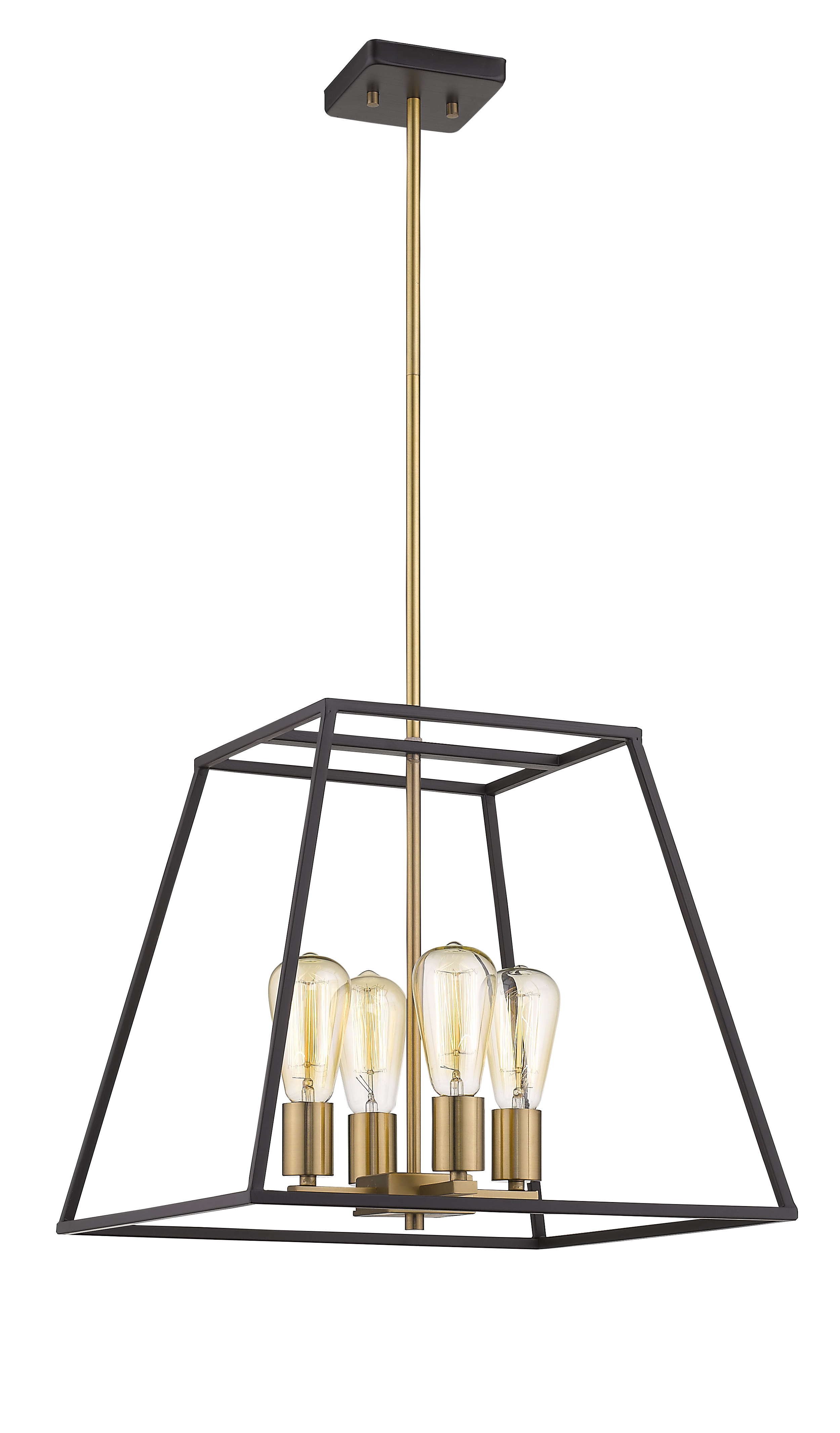 Popular Delon 4 Light Square Chandeliers With Beaminster 4 Light Lantern Chandelier (Gallery 11 of 20)