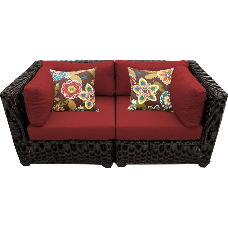 Popular Fairfield Patio Loveseat With Cushions For Laverton Loveseats With Cushions (View 15 of 20)