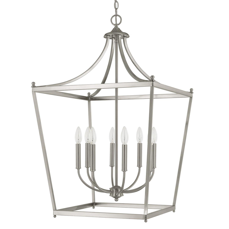 Popular Gabriella 8 Light Foyer Lantern Pendant Pertaining To Leiters 3 Light Lantern Geometric Pendants (View 17 of 20)
