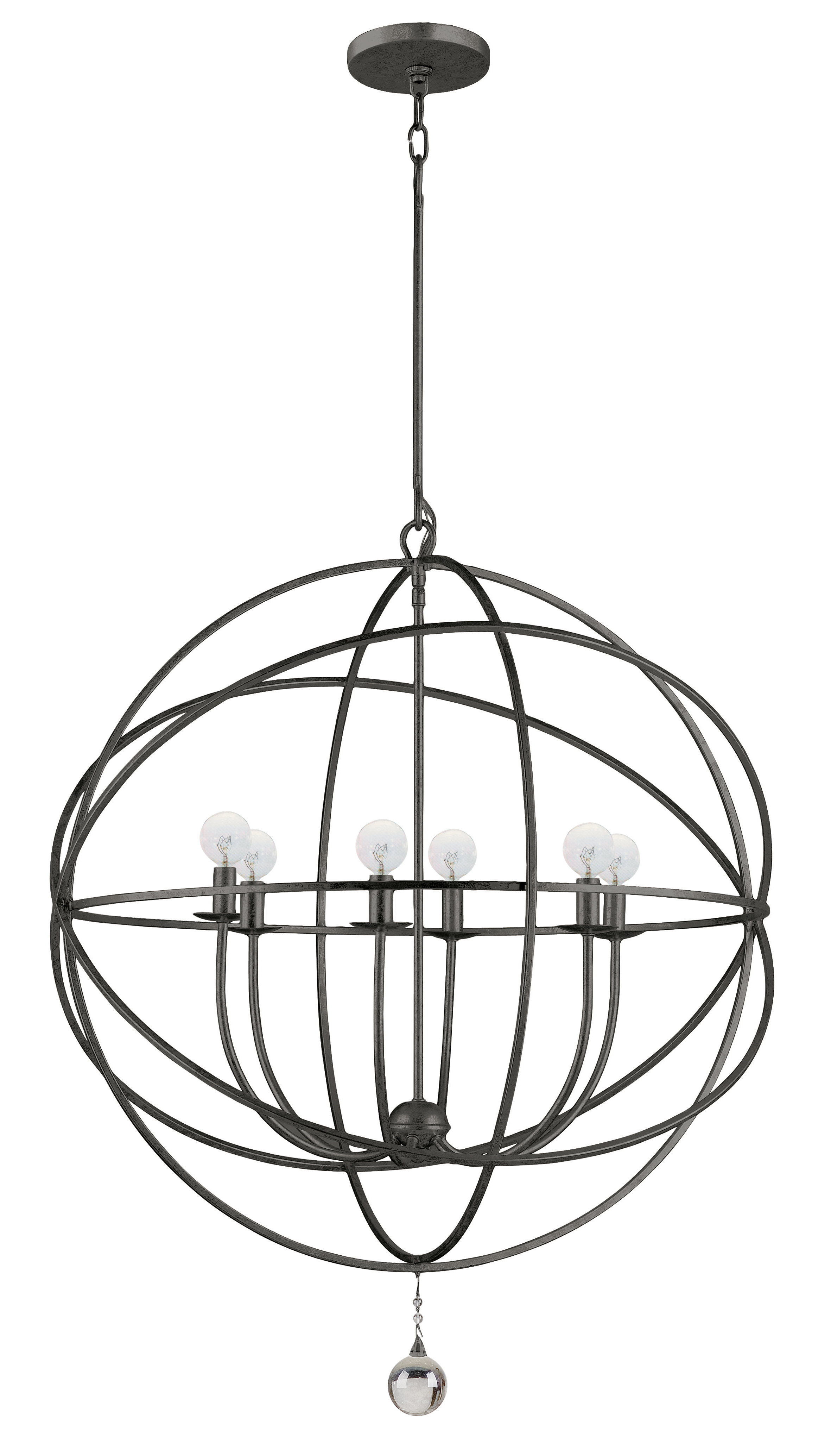 Popular Gregoire 6 Light Globe Chandeliers Regarding Gregoire 6 Light Globe Chandelier (Gallery 1 of 20)