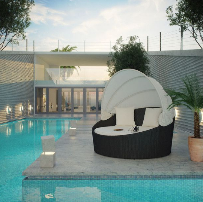 Popular Hatley Patio Daybeds With Cushions In 7 Beautiful Cozy Daybeds For Luxurious Outdoor Area – Cute (View 14 of 20)