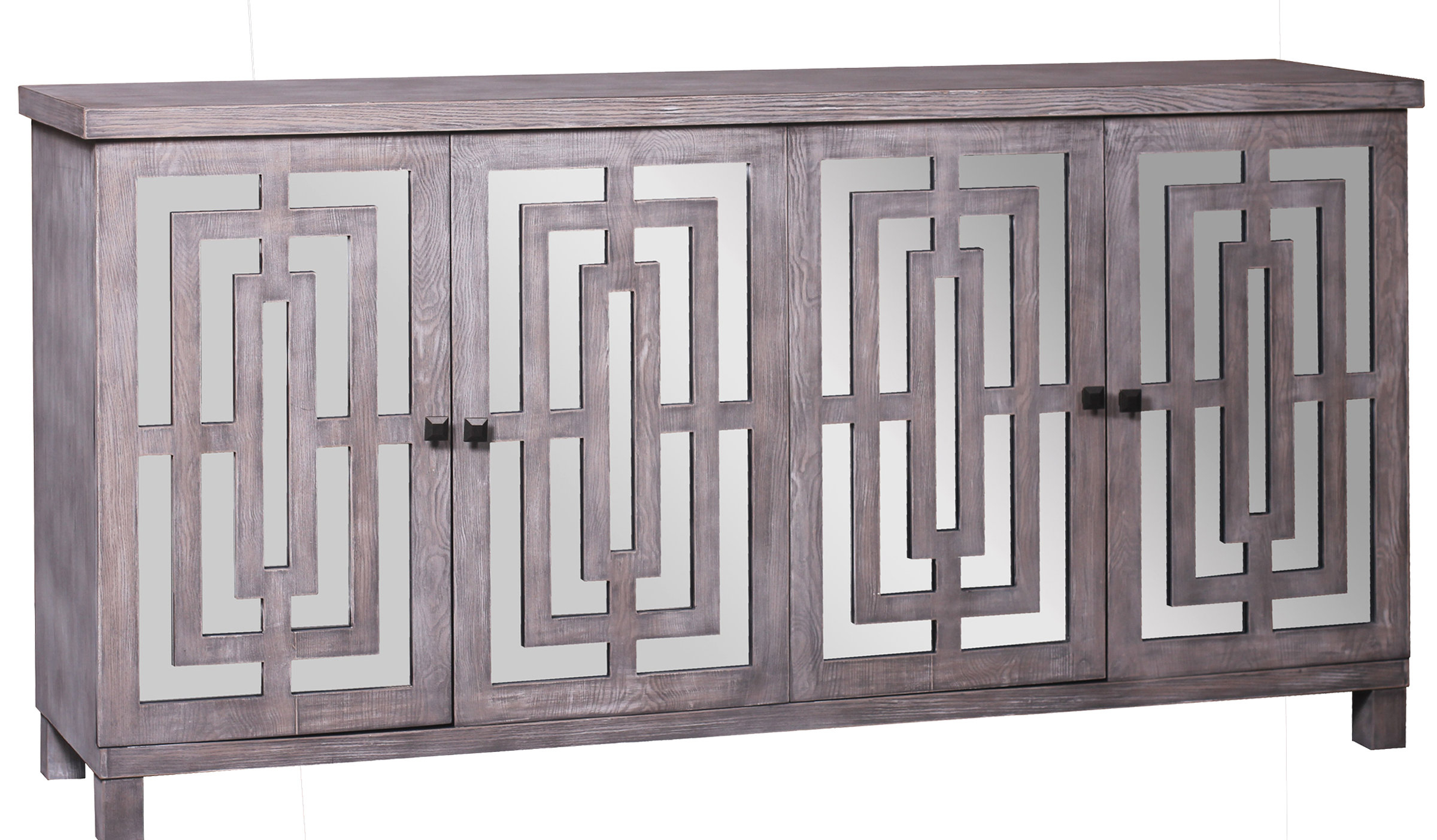 Popular Kattie 4 Door Cabinets With Regard To Modern & Contemporary Kieth 4 Door Credenza (Gallery 14 of 20)