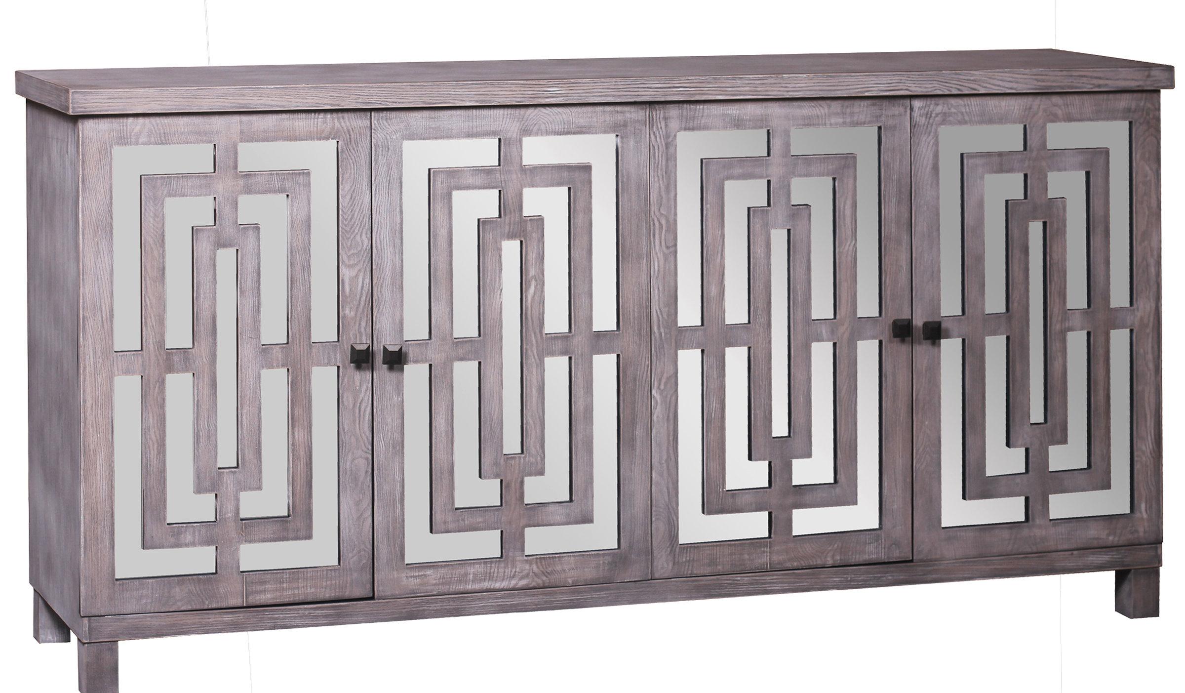 Popular Kattie 4 Door Cabinets With Regard To Modern & Contemporary Kieth 4 Door Credenza (Gallery 14 of 20)