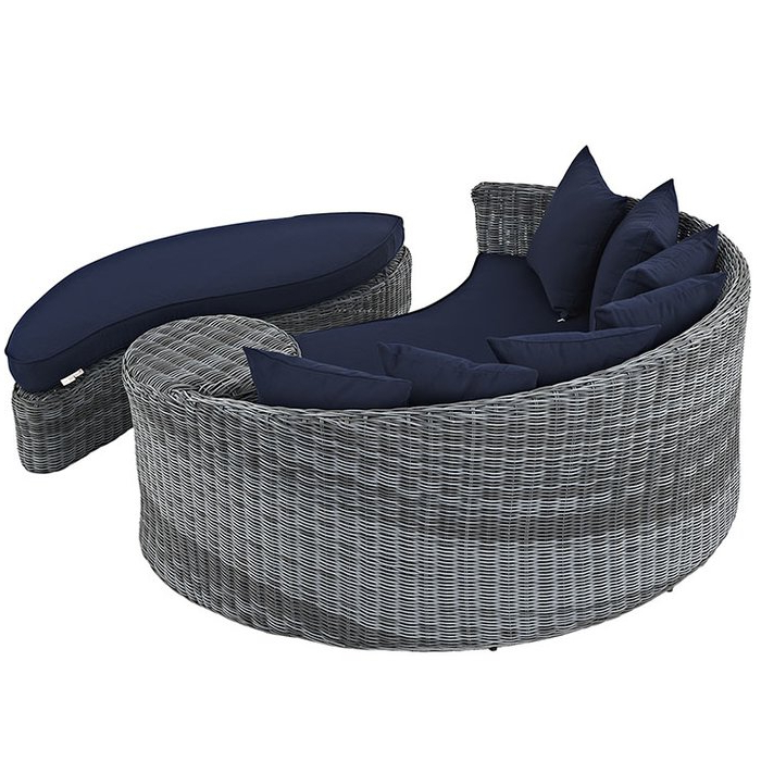 Popular Keiran Patio Daybed With Cushions Intended For Keiran Daybeds With Cushions (Gallery 19 of 20)