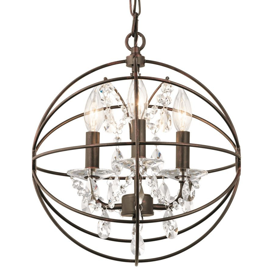 Popular Kichler Vivian 13 In Coffee With Copper Highlights Crystal Regarding Dirksen 3 Light Single Cylinder Chandeliers (Gallery 18 of 20)