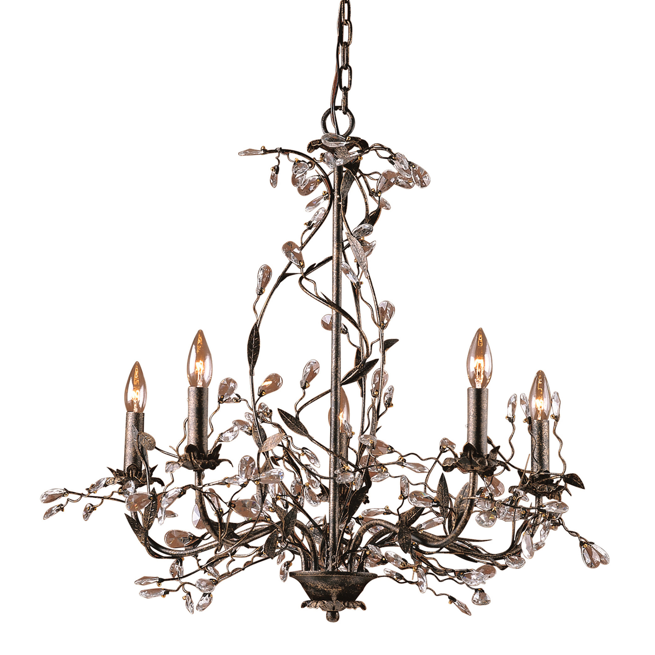 Popular Lorraine 5 Light Chandelier Within Hesse 5 Light Candle Style Chandeliers (View 17 of 20)