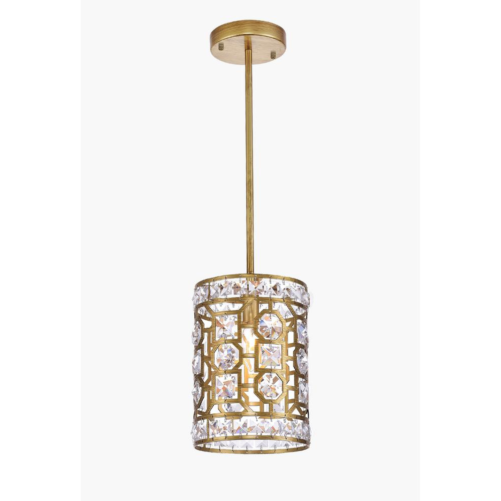 Popular Lynn 6 Light Geometric Chandeliers Inside Cwi Lighting Belinda 1 Light Gold Chandelier (Gallery 14 of 20)