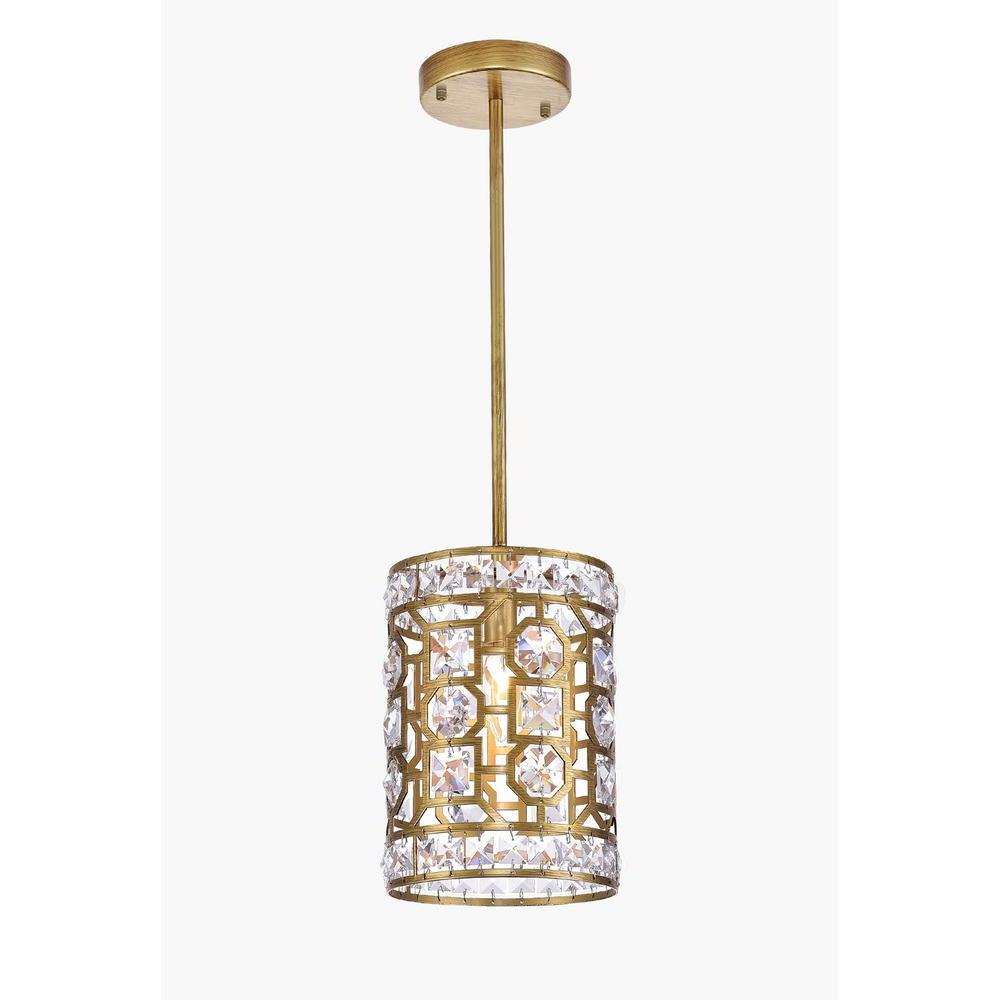 Popular Lynn 6 Light Geometric Chandeliers Inside Cwi Lighting Belinda 1 Light Gold Chandelier (View 17 of 20)