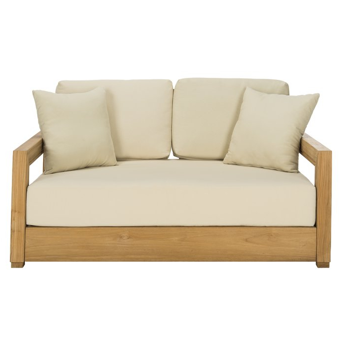 Popular Montford Teak Loveseat With Cushions Inside Brunswick Teak Loveseats With Cushions (View 7 of 20)