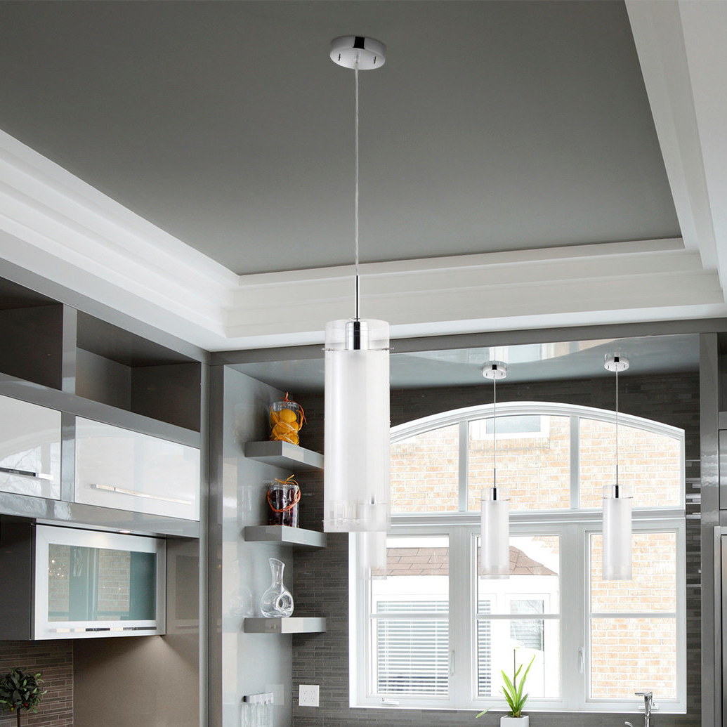 Popular Oldbury 1 Light Single Cylinder Pendant Within Callington 1 Light Led Single Geometric Pendants (Gallery 20 of 20)
