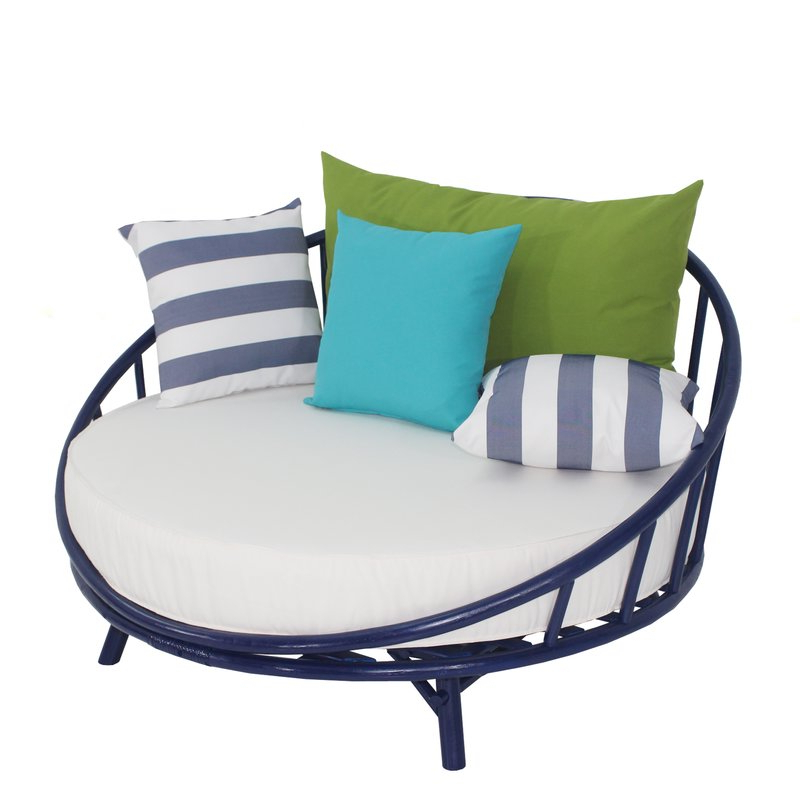 Popular Olu Bamboo Large Round Patio Daybeds With Cushions Intended For Olu Bamboo Large Round Patio Daybed With Cushions (View 17 of 20)