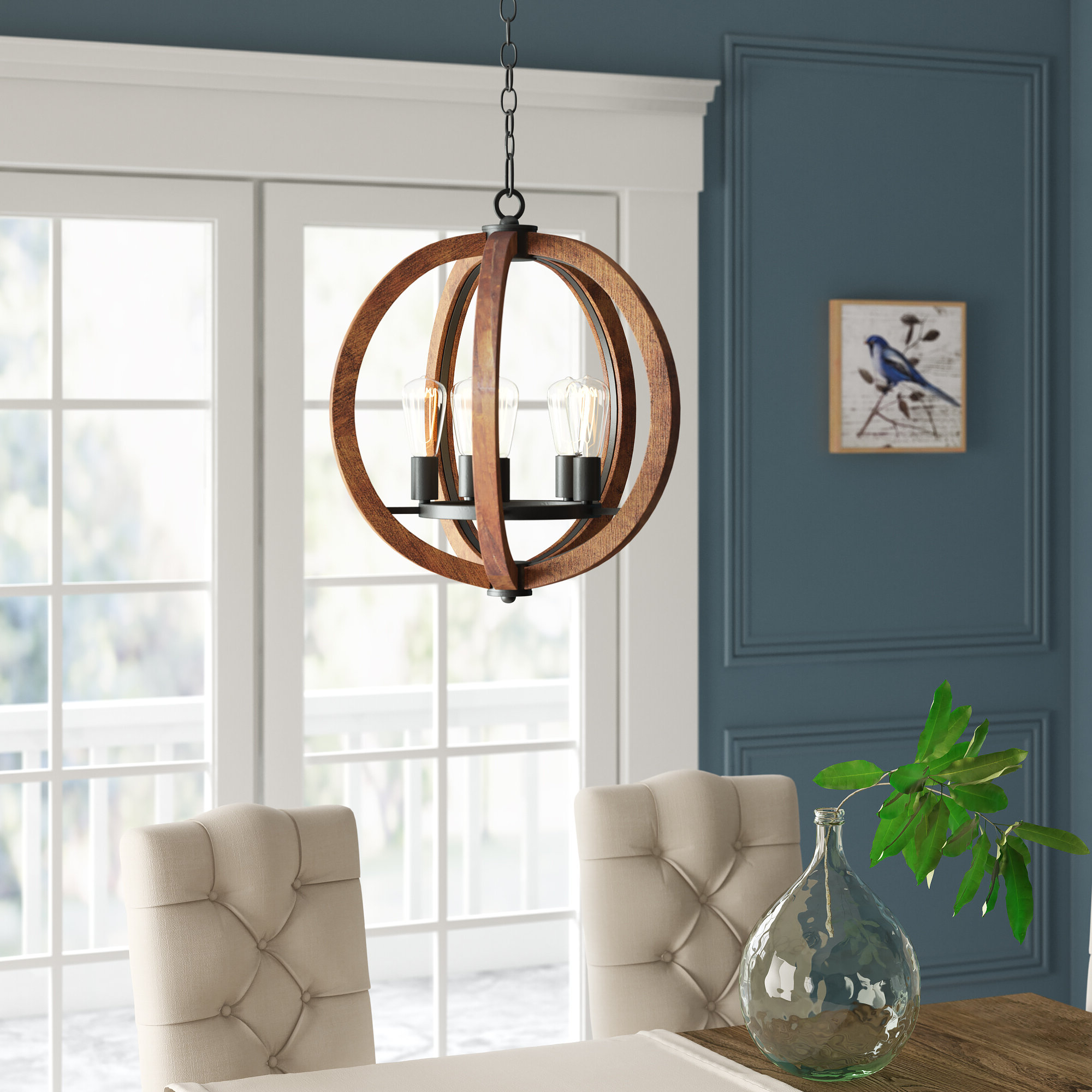 Popular Orly 5 Light Globe Chandelier With Regard To Kierra 4 Light Unique / Statement Chandeliers (Gallery 9 of 20)