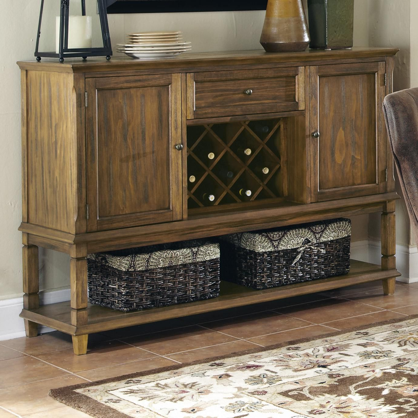 Popular Parkins Server With Wine Rack And Shelfcoaster Inside Tilman Sideboards (View 11 of 20)