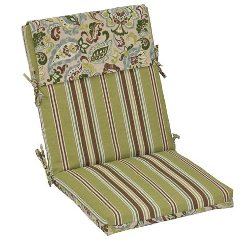 Popular Patio Sofas With Cushions Regarding Backyard Creations™ Monroe Floral Patio Chair Cushions At (Gallery 13 of 20)