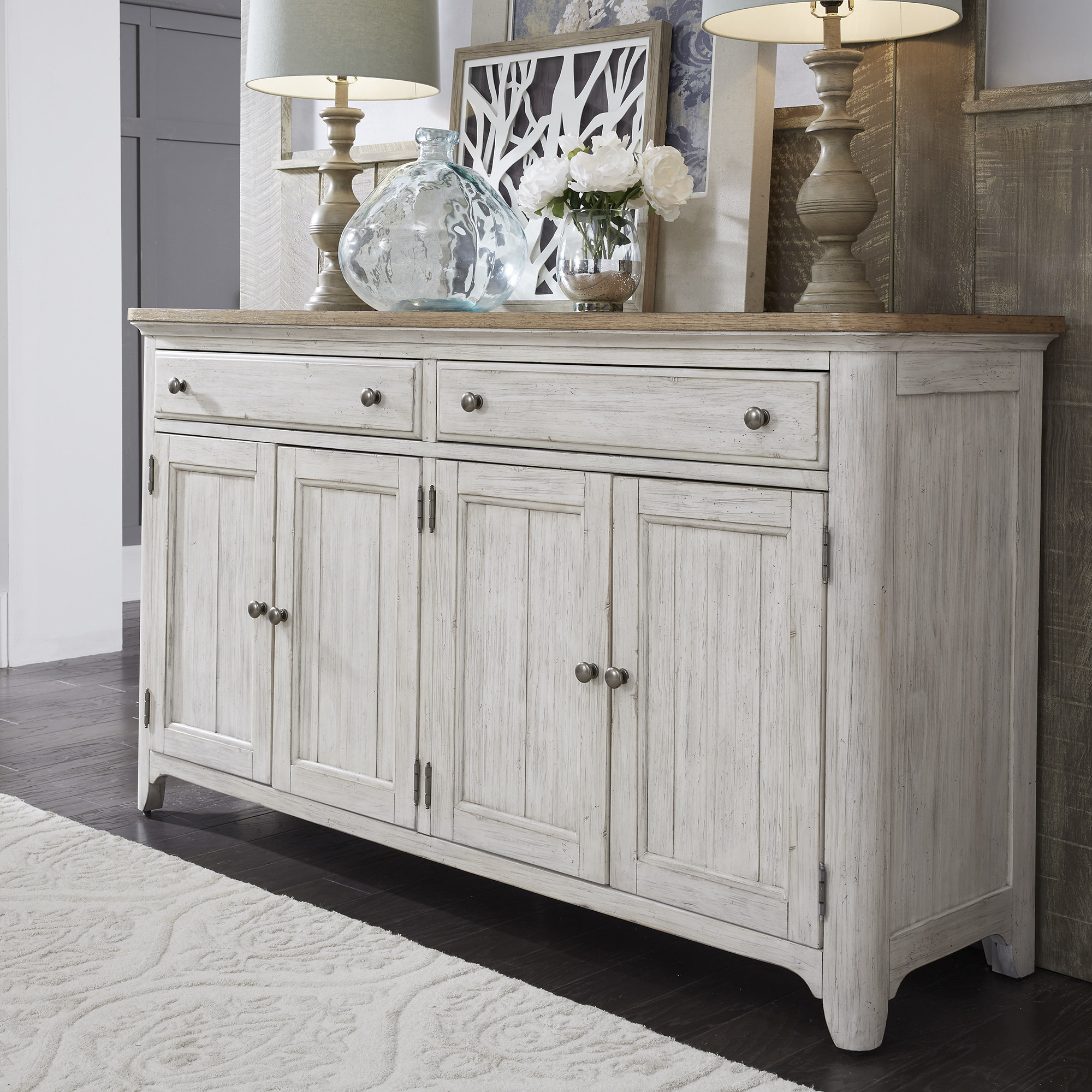 Popular Payton Serving Sideboards Inside Farmhouse & Rustic Silverware Storage Equipped Sideboards (View 15 of 20)
