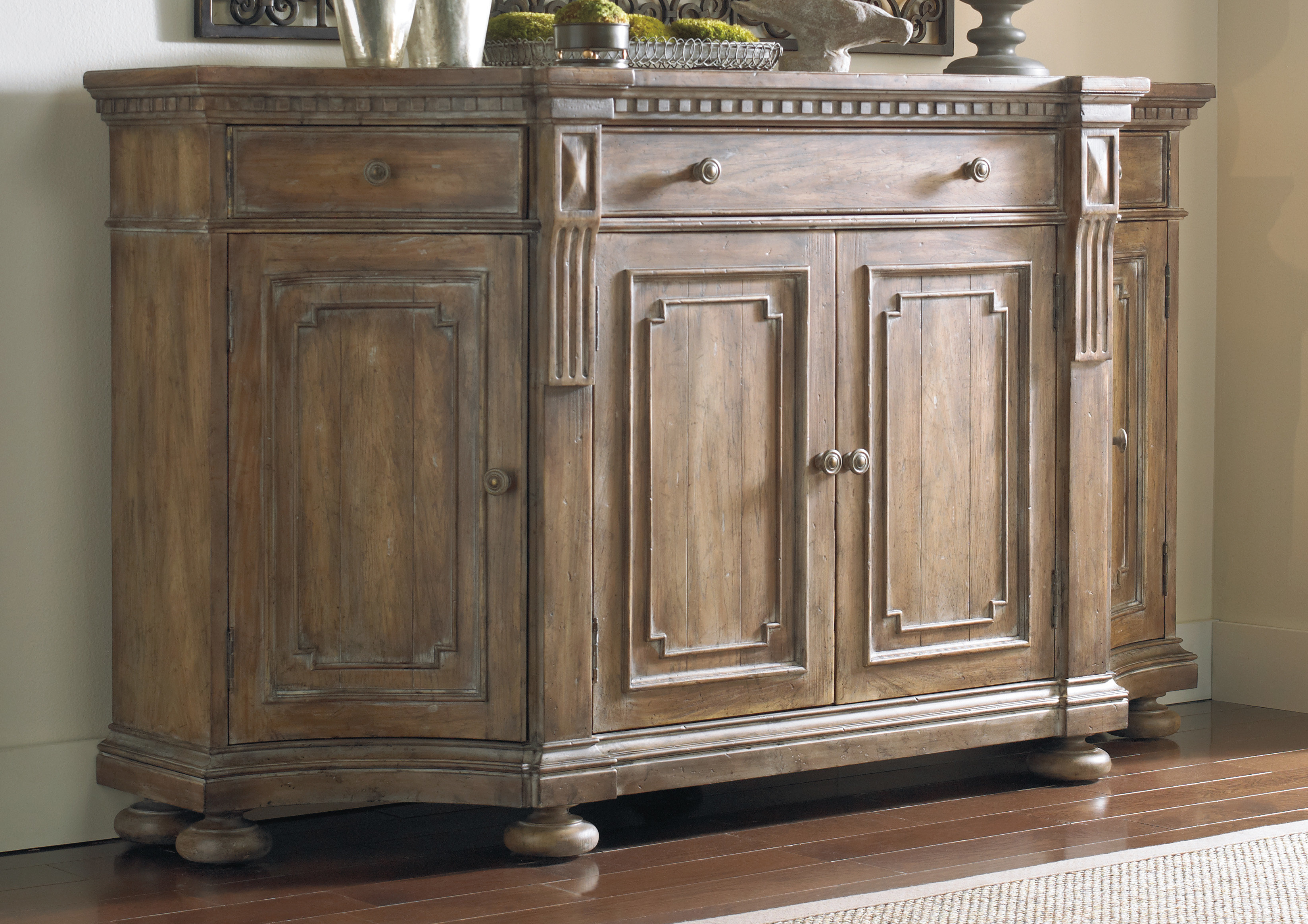 Popular Phyllis Sideboards Within Hooker Furniture Gowins Shaped Sideboard (View 15 of 20)