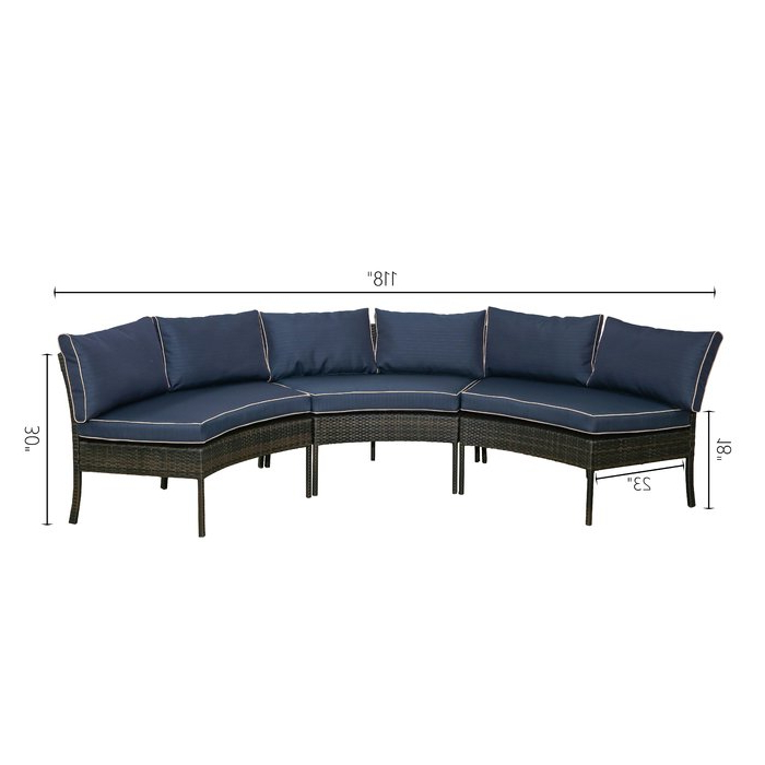 Popular Purington Circular Patio Sectionals With Cushions With Purington Circular Patio Sectional With Cushions (Gallery 3 of 20)