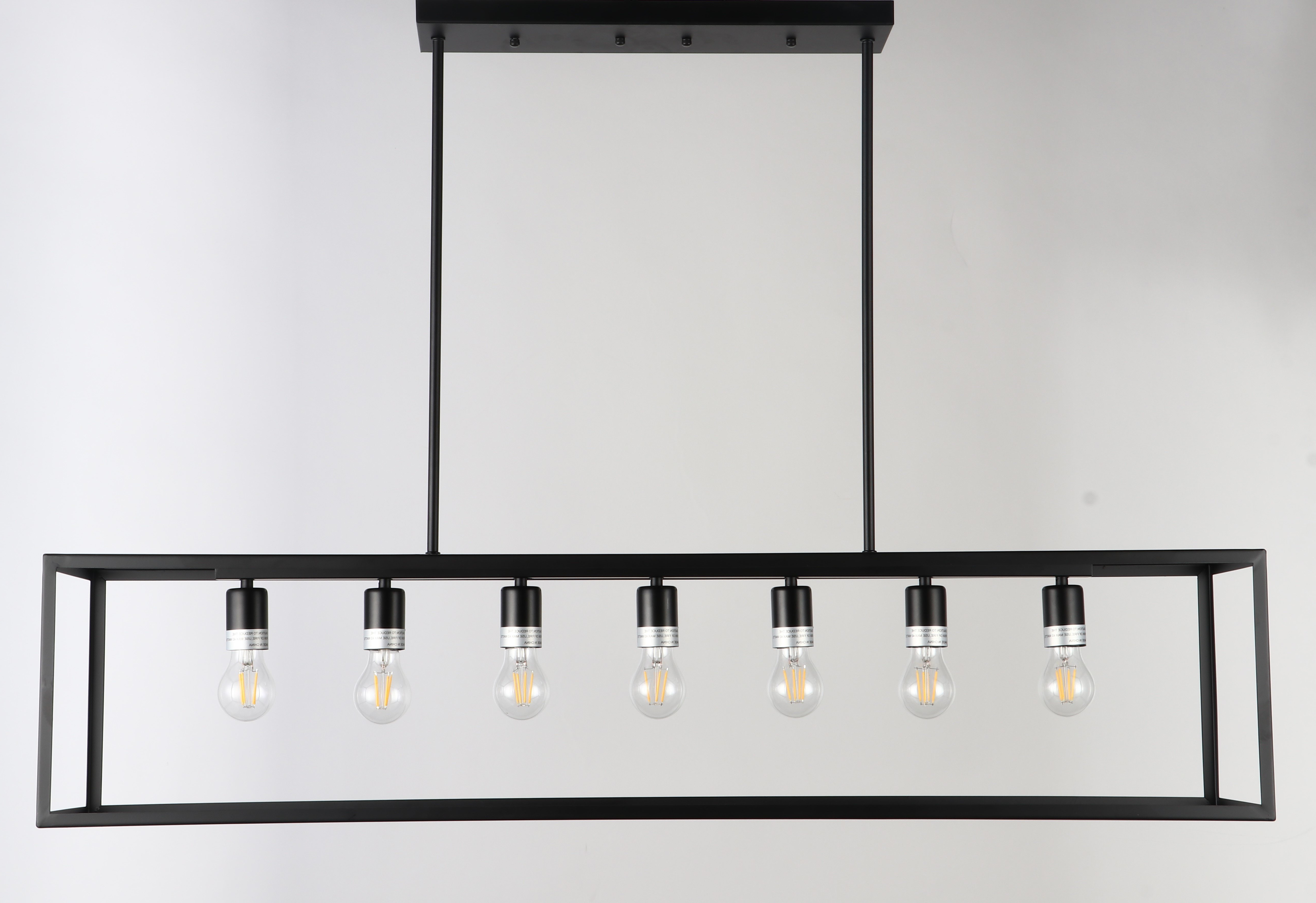 Popular Ratner 7 Light Kitchen Island Linear Pendant Within Sousa 4 Light Kitchen Island Linear Pendants (View 8 of 20)