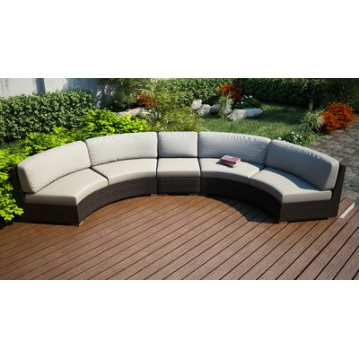 Popular Rosecliff Heights Hodge Extended Curved Patio Sectional With For Purington Circular Patio Sectionals With Cushions (Gallery 18 of 20)