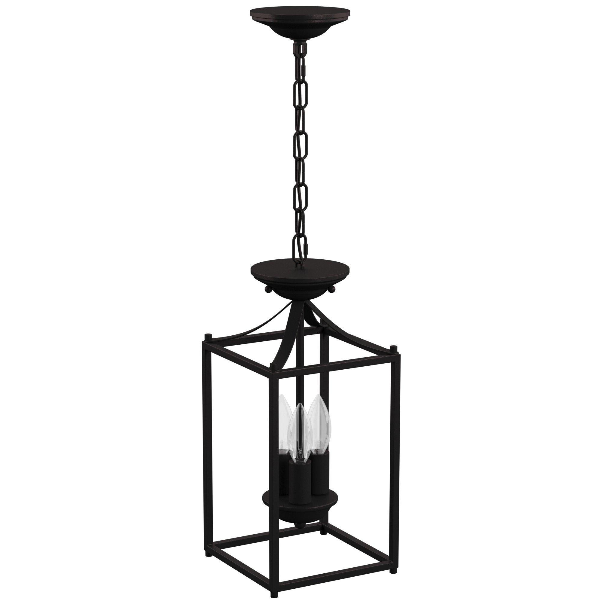 Popular Sherri Ann 3 Light Lantern Square / Rectangle Pendants Intended For Barryton 3 Light Lantern Square Pendant (Gallery 14 of 20)