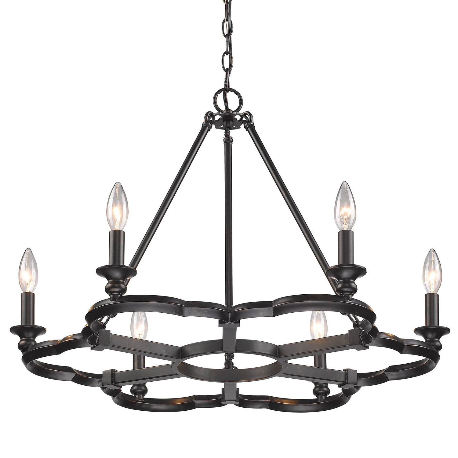 Popular Stephania 6 Light Candle Style Chandelier With Diaz 6 Light Candle Style Chandeliers (View 3 of 20)