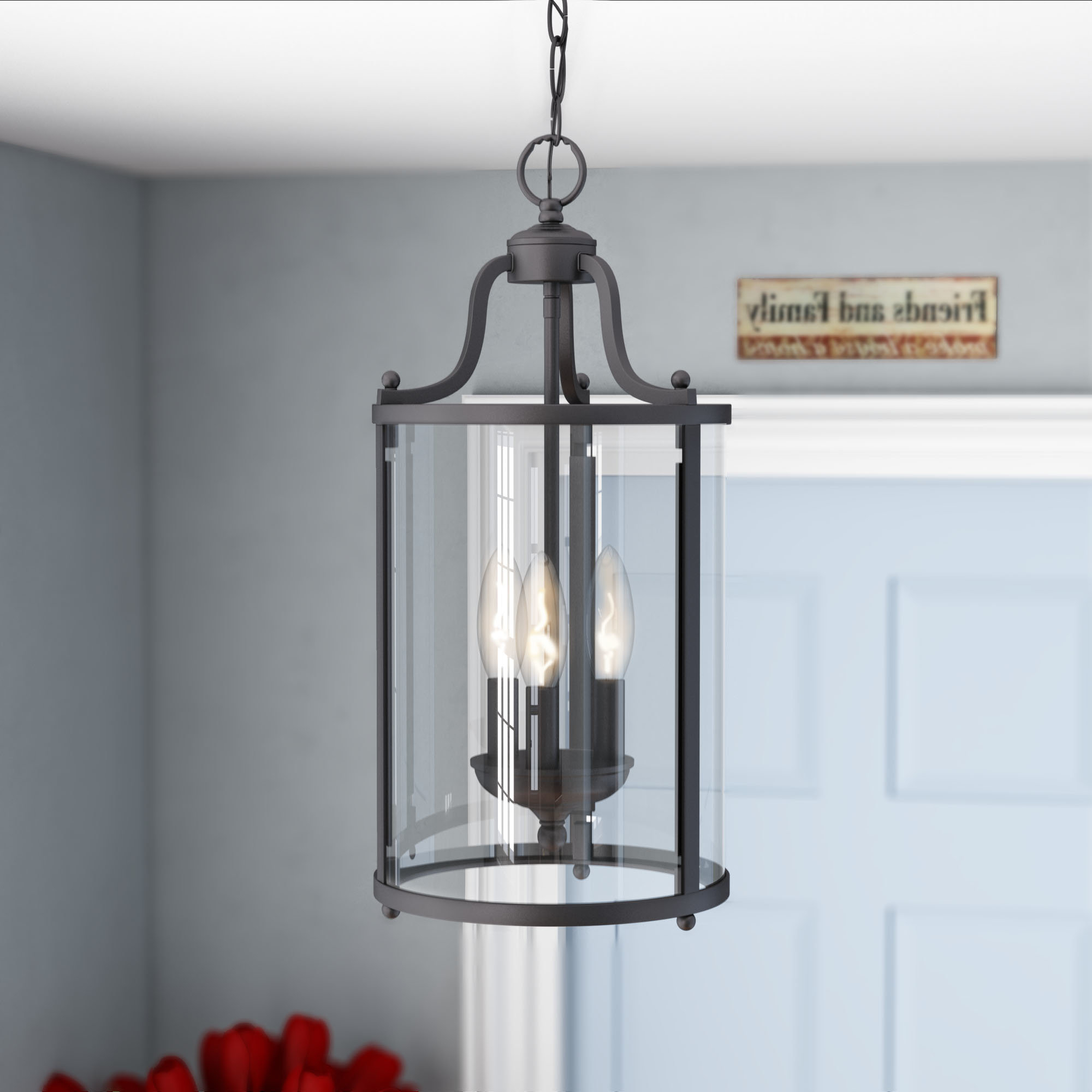 Popular Tessie 3 Light Lantern Cylinder Pendant Pertaining To 3 Light Lantern Cylinder Pendants (Gallery 8 of 20)