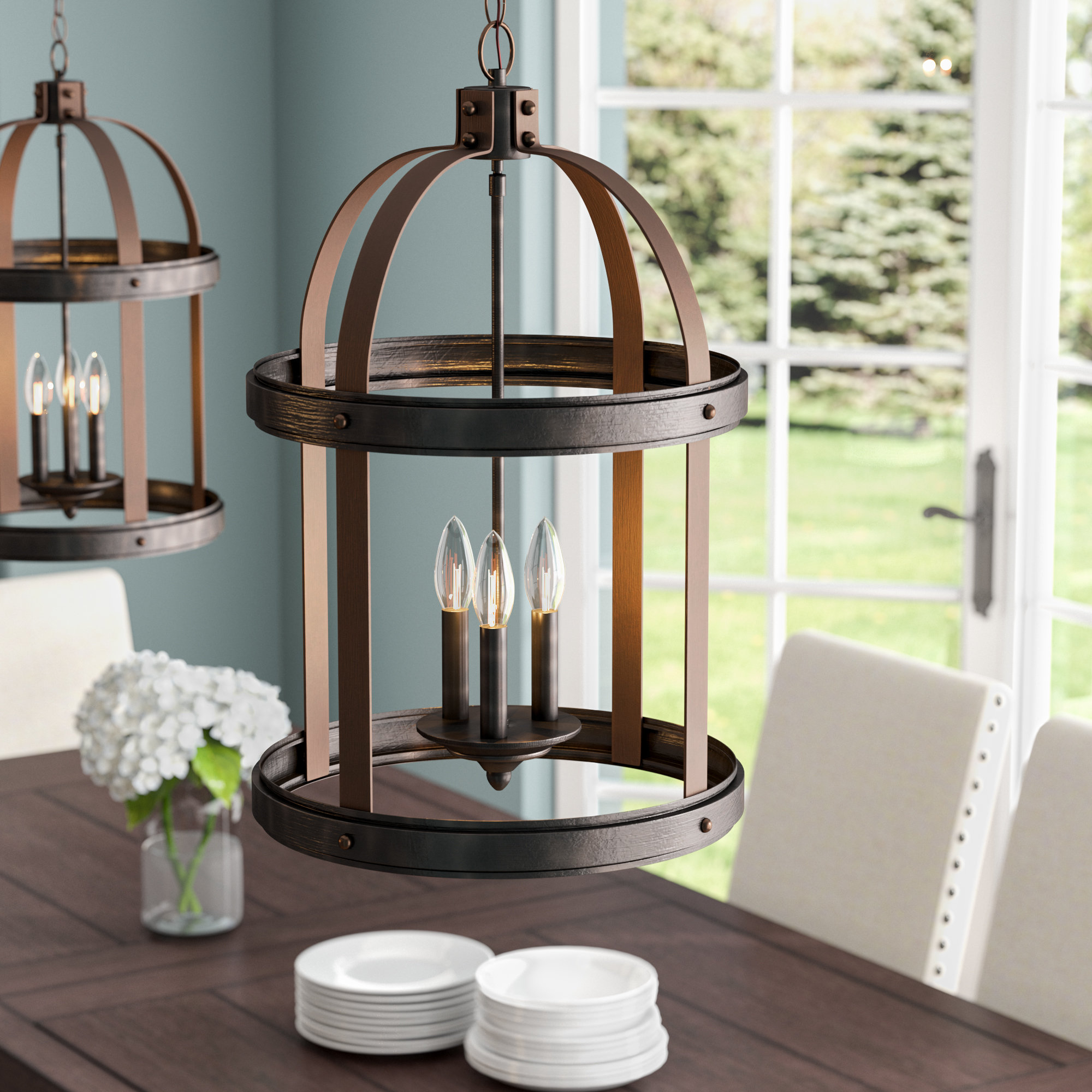 Popular Tessie 3 Light Lantern Cylinder Pendants For Pawling 3 Light Lantern Cylinder Pendant (View 12 of 20)
