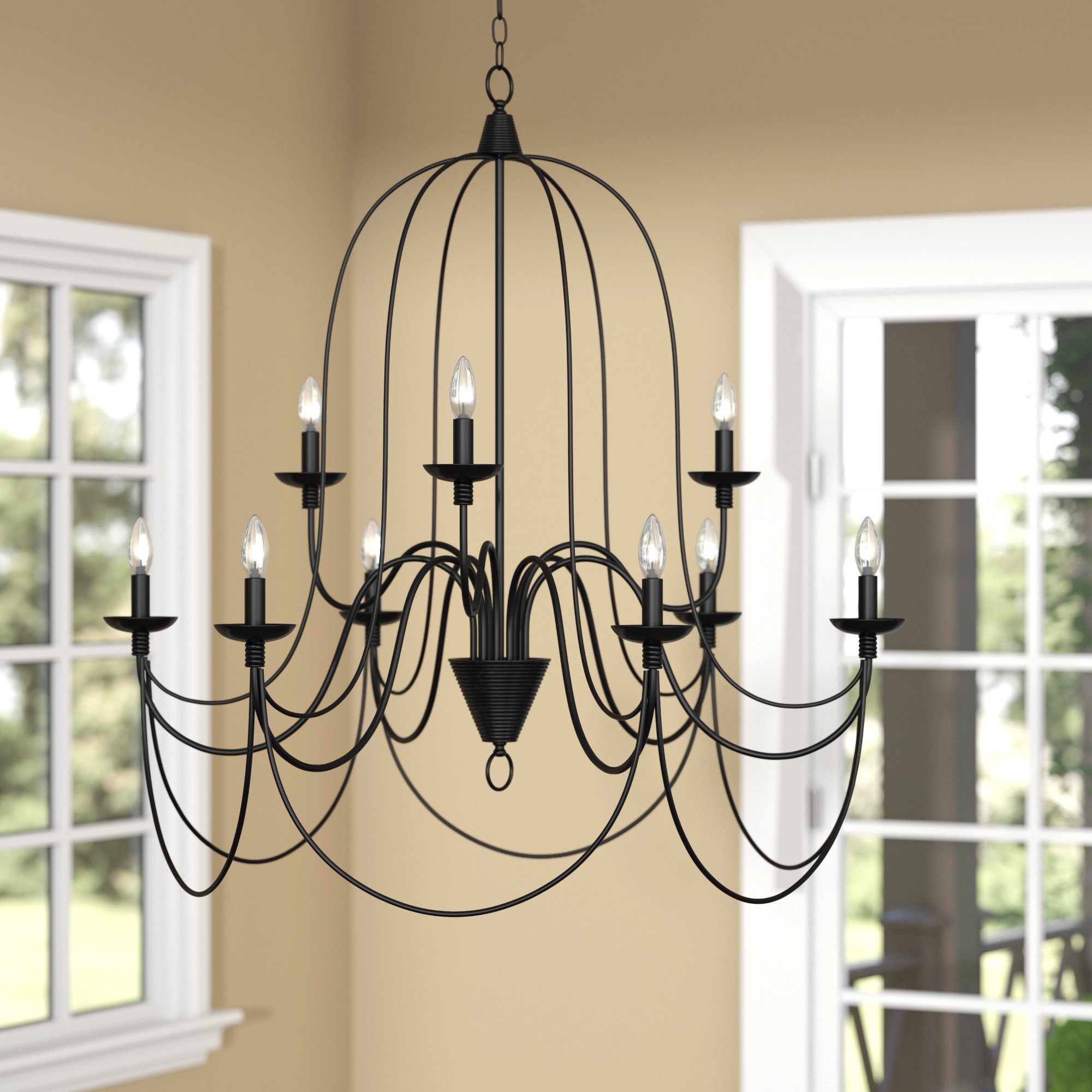 Popular Three Posts Watford 9 Light Candle Style Chandelier Intended For Camilla 9 Light Candle Style Chandeliers (View 18 of 20)