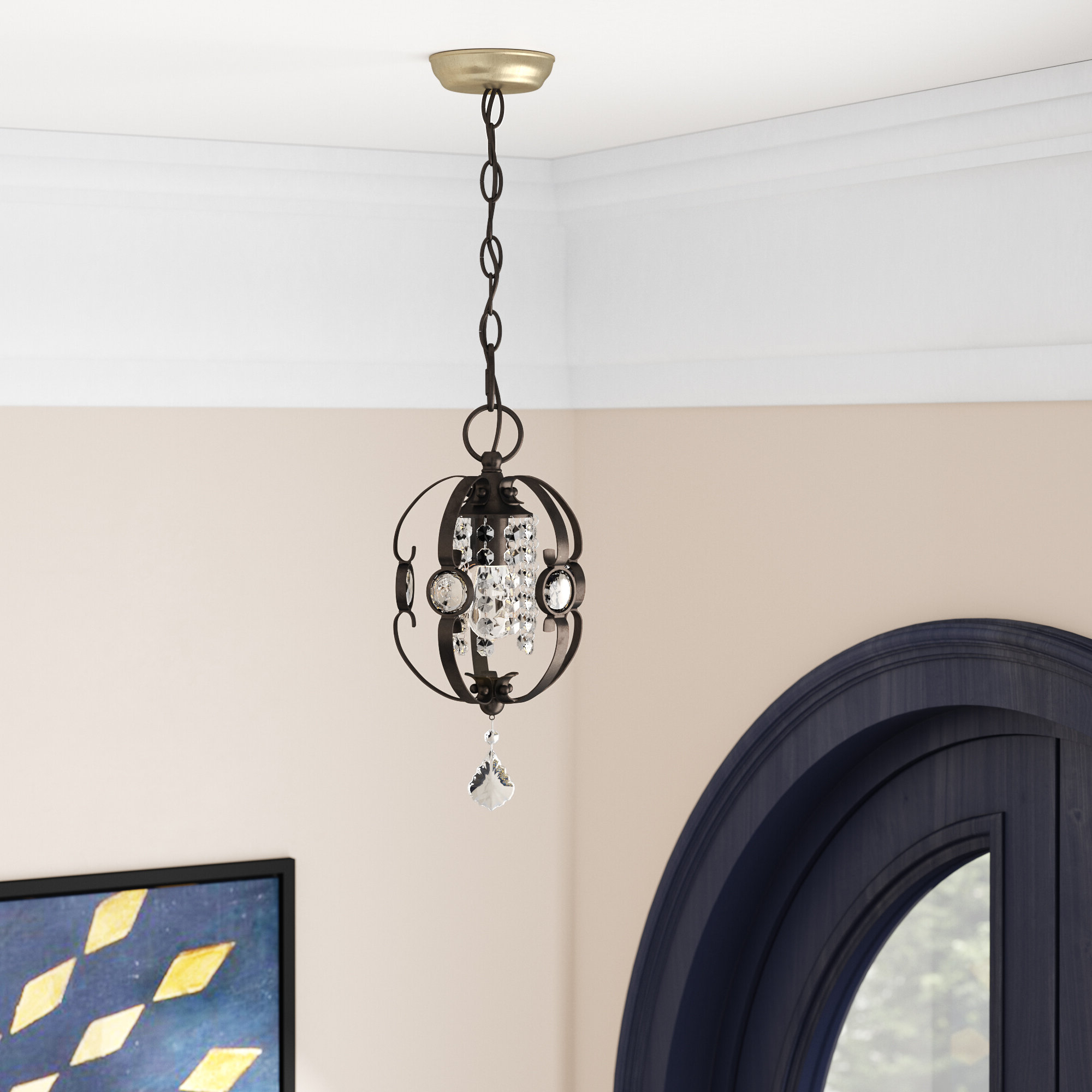 Popular Willa Arlo Interiors Hermione 5 Light Drum Chandelier Regarding Hermione 1 Light Single Drum Pendants (Gallery 14 of 20)
