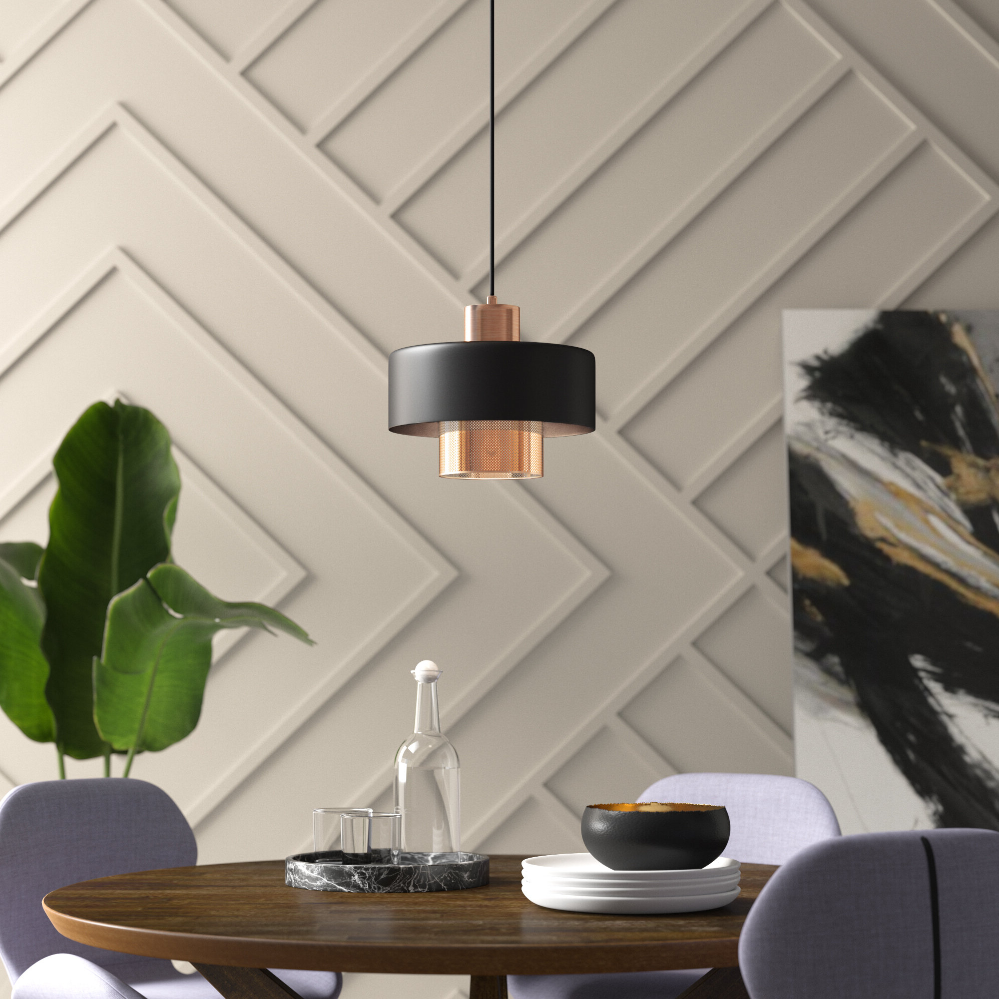 Popular Willems 1 Light Single Drum Pendants Pertaining To Drum Pendant Lighting You'll Love In  (View 11 of 20)