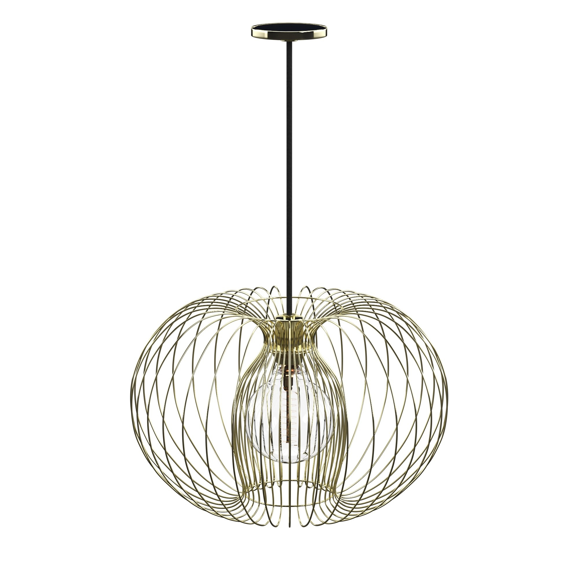 Poynter 1 Light Single Cylinder Pendants With Regard To Best And Newest Kass 1 Light Geometric Pendant (Gallery 13 of 20)